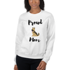 Proud Shepherd Mom Sweatshirt White S