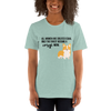 All Women Created Equal Corgi T-Shirt Heather Prism Dusty Blue XS