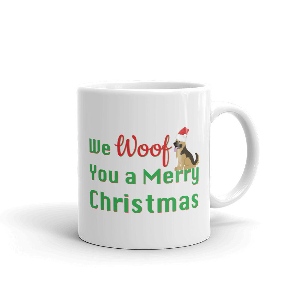 We Woof You A Merry Christmas German Shepherd Mug