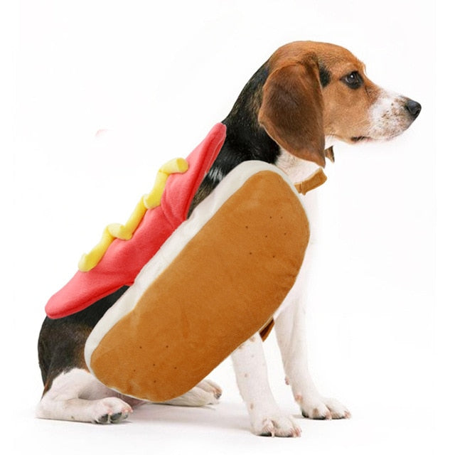 Hot Dog Bun Halloween Dog Costume Back length 20cm