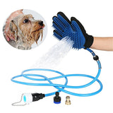 Pet Bathing Massaging Glove with 3 Faucet Adapters
