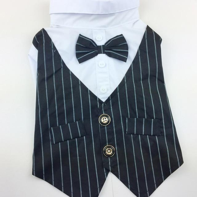 Tuxedo Shirt with Bow Tie