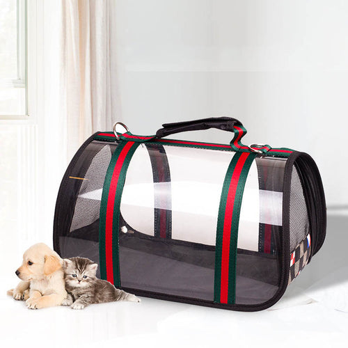 Waterproof, Transparent Pet Travel Bag  For Small Dogs and Cats