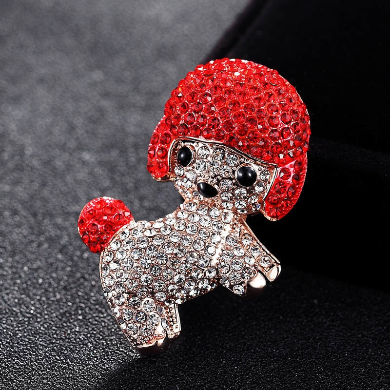 Little Christmas  Chihuahua Brooch