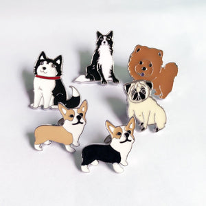 Cute Doggy Enamel Pins