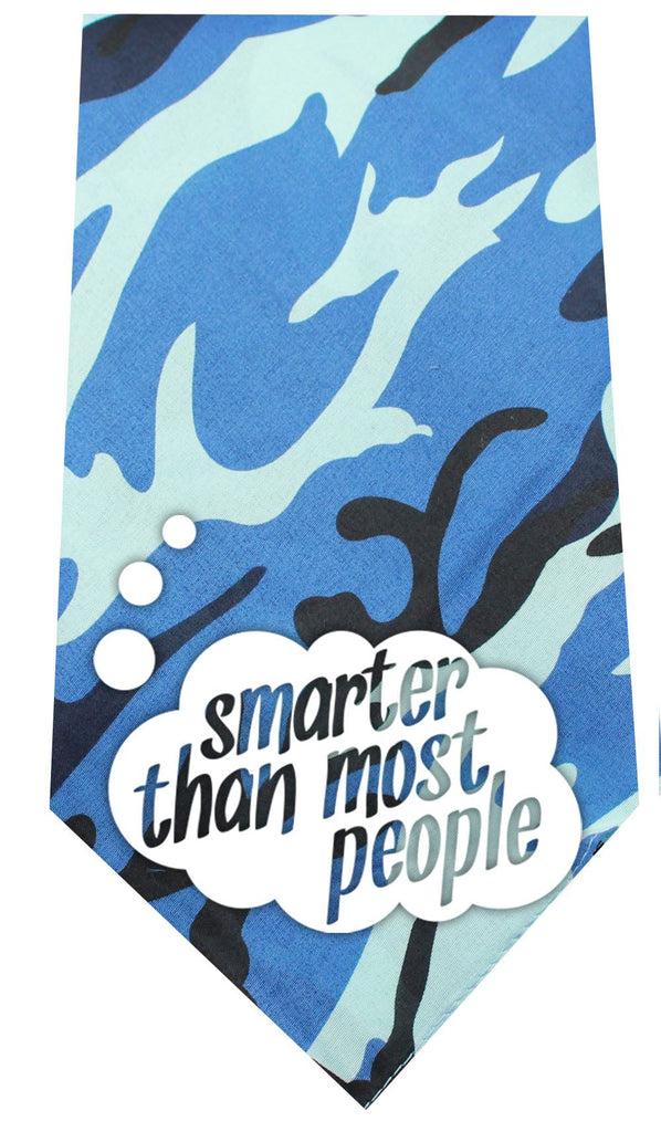 Smarter than Most People Screen Print Bandana Blue Camo