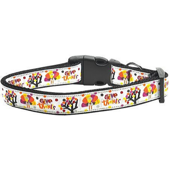 Give Thanks Dog Collar Large