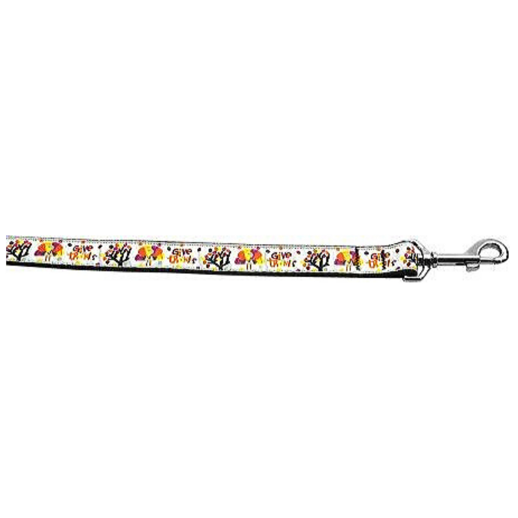 Give Thanks long Leash 1 inch wide 4ft