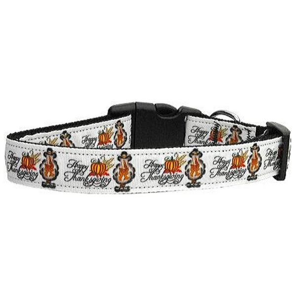 Happy Thanksgiving Dog Collar Large