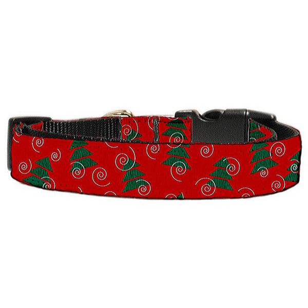 Christmas Trees Nylon and Ribbon Collars Large