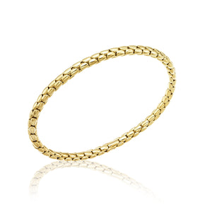 18K Stretch Spring Yellow Gold Bracelet