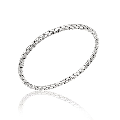 18K Stretch Spring White Gold Bracelet