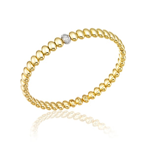 18K Armillas Acqua Yellow Gold Bracelet with Diamonds