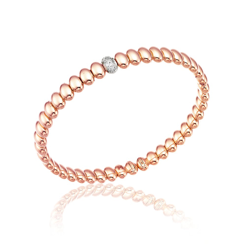 18K Armillas Acqua Rose Gold Bracelet with Diamonds