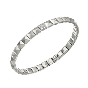 18K Armillas Pyramis White Gold Bracelet with Diamonds