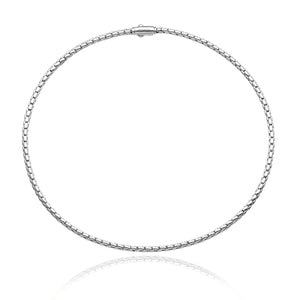 18K Stretch Spring White Gold Necklace