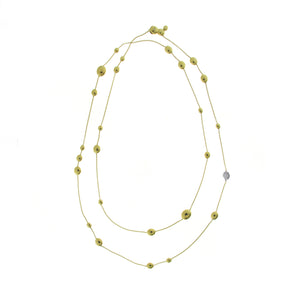 18K Armillas Acqua Yellow Gold Necklace with Diamonds