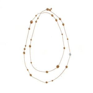 18K Armillas Acqua Rose Gold Necklace with Diamonds