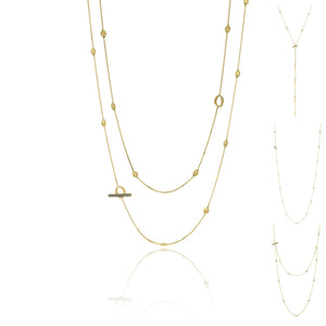 18K Armillas Acqua Yellow Gold Long Necklace