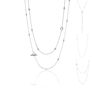 18K Armillas Acqua White Gold Long Necklace
