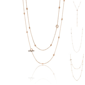 18K Armillas Acqua Rose Gold Long Necklace