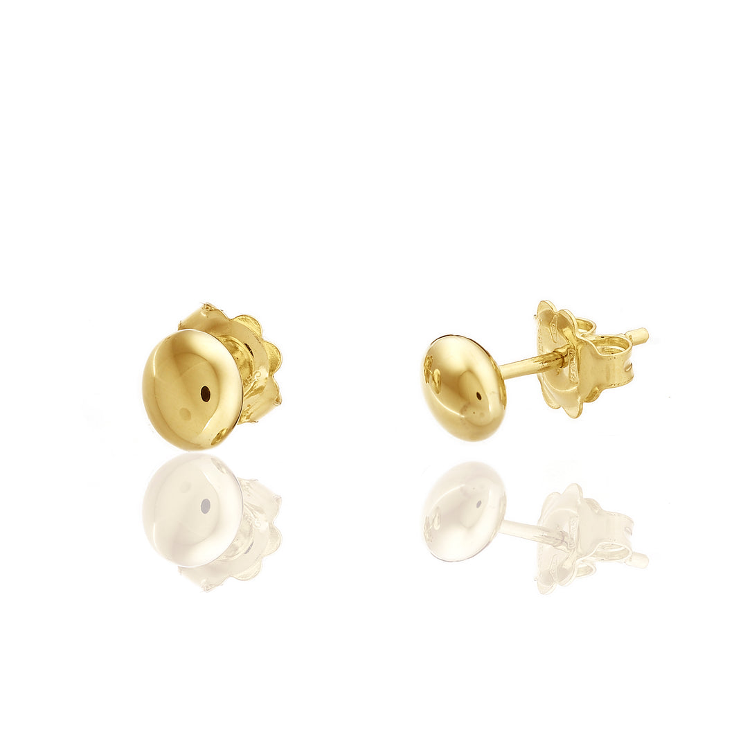 18K Armillas Acqua Yellow Gold Stud Earrings