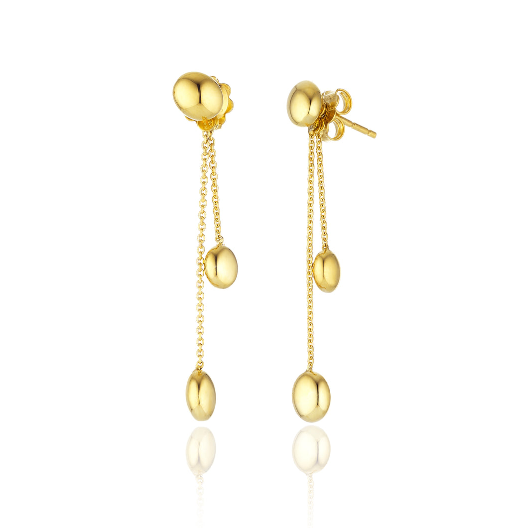 18K Armillas Acqua Yellow Gold Earrings