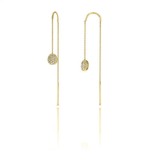 18K Armillas Acqua Yellow Gold Earrings with Diamonds