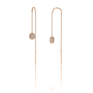 18K Armillas Acqua Rose Gold Earrings with Diamonds