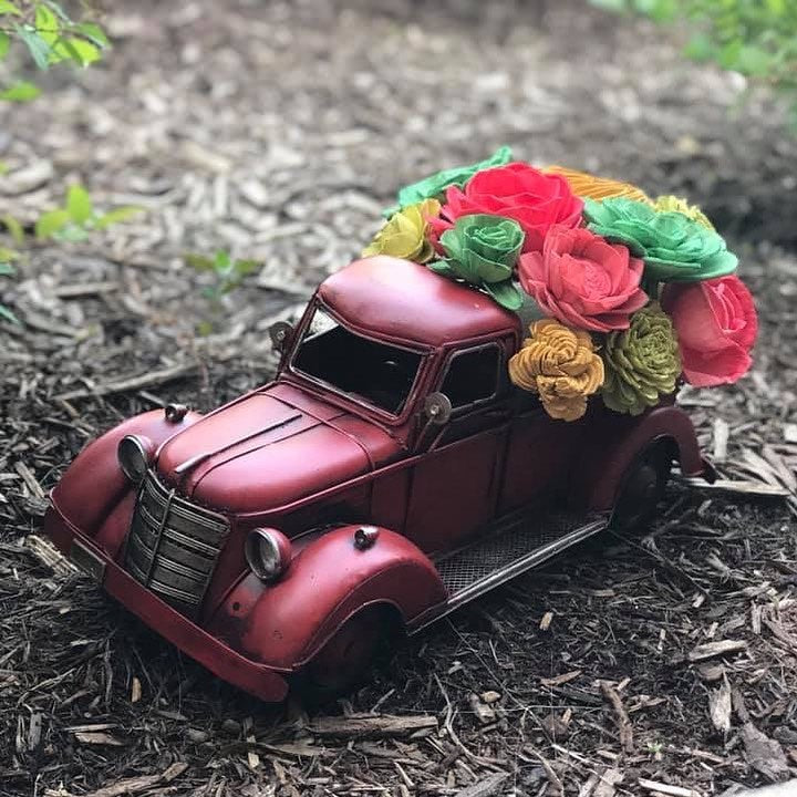 10/16/2019 (1pm) Vintage Truck Wood Flower Workshop (Yadkin Valley)