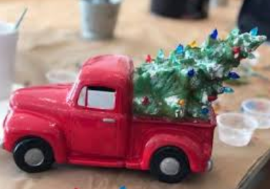 'Hammer at Home' Vintage Ceramic Truck w/ Tree Kit