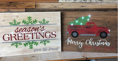 12/08/2018 (3pm) Christmas Pallet Signs (Yadkin Valley)