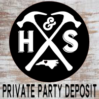 12/03/2019 (6:00pm) Private Party Deposit (Yadkin Valley)