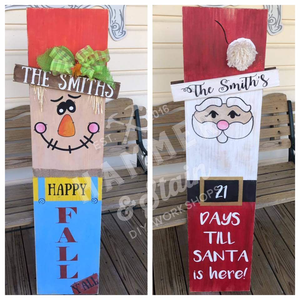 07/11/2020 (5pm) Reversible Scarecrow / Santa Workshop (Yadkin Valley)