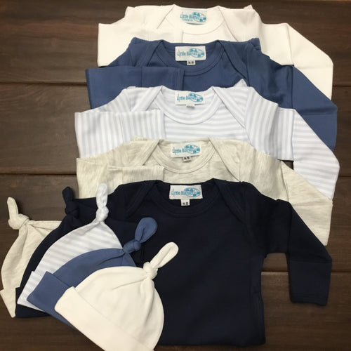 Solid OR Striped Baby Gown - Unisex - Little Blanks
