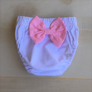 Baby Girl Bloomers (Diaper Cover) with Rear Bow - Little Blanks, LLC