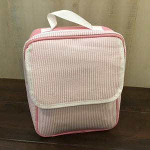 Seersucker Insulated Lunch Box-Tote - Little Blanks, LLC