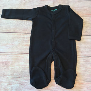 Solid Color Footies -Unisex - Little Blanks