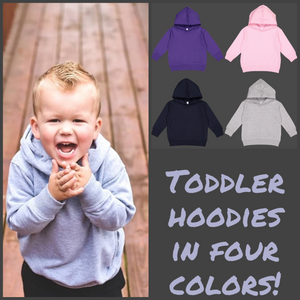 Blank Toddler Fleece Hooded Sweatshirt (Hoodie)  - Unisex - Little Blanks