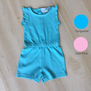 Girl's Sleeveless Short Romper - Little Blanks