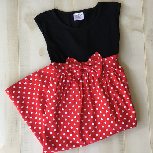 Minnie Mouse Inspired Dress for Women - Matching Mom and Me - Little Blanks