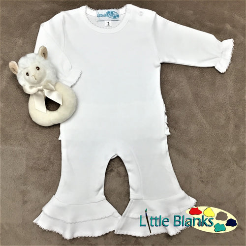 CLEARANCE - Baby Girl Sleeved Romper - Little Blanks