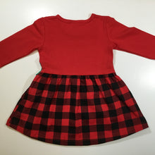 Girls Buffalo Plaid Christmas Dress - Little Blanks, LLC