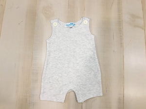Boys Sleeveless Rompers in All Cotton - Little Blanks, LLC