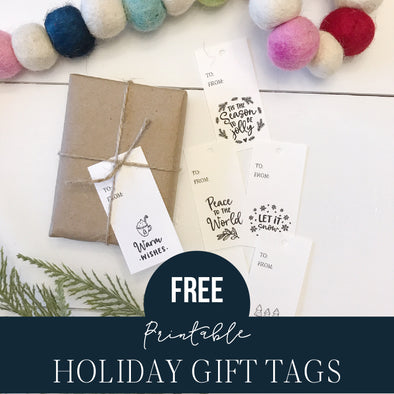 Free Printable Holiday Tags You'll Love