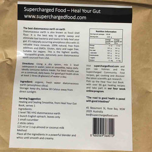 SUPERCHARGED FOOD Love Your Gut Powder Diatomaceous Earth - 250g