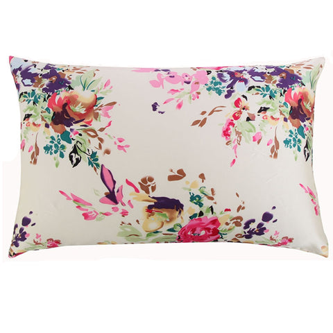 Beauty Tip: Silk Pillow Case ~ Protect your face and hair from creases and bed head! Lots of patterns and sizes to choose from ~ Free Shipping ~ Beautiful 100% Natural Mulberry floral silk pillowcase with zipper - Allbetor Skin Care