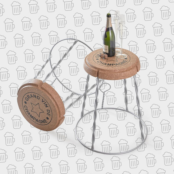 Gift - XL Wire Champagne Cork Side Table
