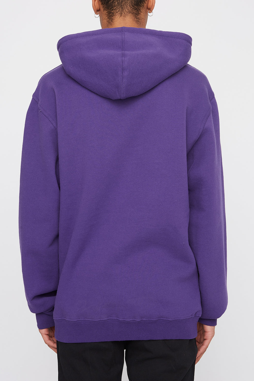 Primitive Mens Embroidered Logo Hoodie Purple