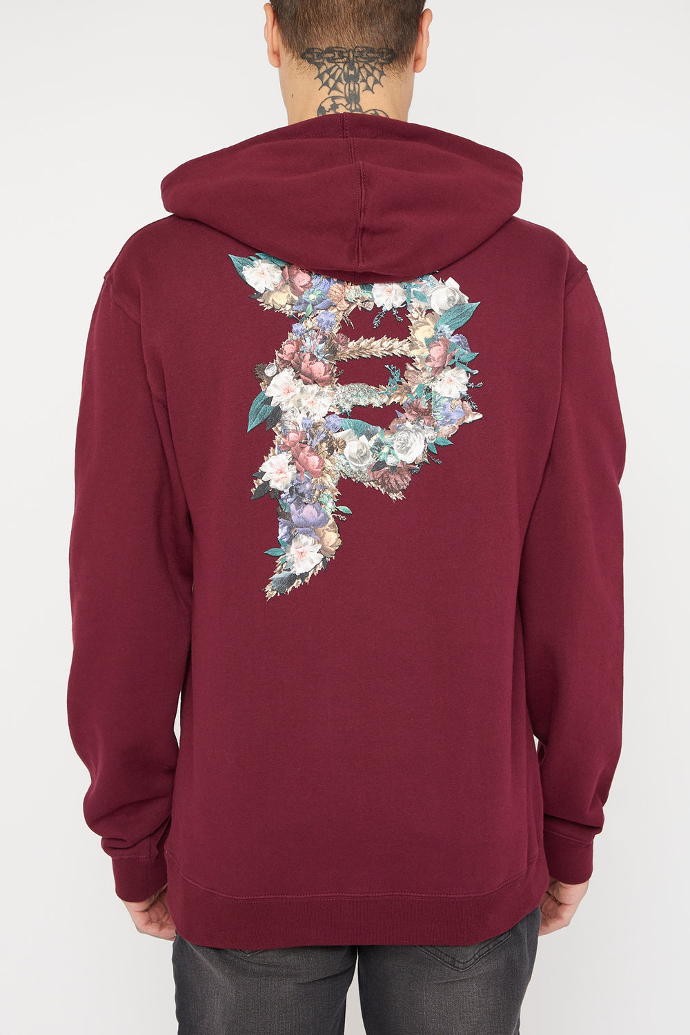 Primitive Burgundy Floral Dirty P Hoodie Burgundy